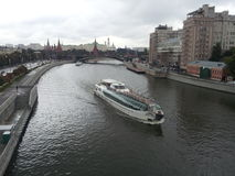 Moskva flod, Moskva, Ryssland Royaltyfri Fotografi