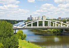 Moskva Horoshevskiy bro Arkivfoton