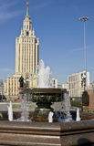 Moskva htel Leningradskaya Hilton Fotografering för Bildbyråer