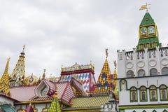 MOSKVA - JUNI 04: Kulturell-underhållning komplex Kreml i Izma Arkivbild