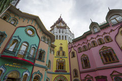 MOSKVA - JUNI 04: Kulturell-underhållning komplex Kreml i Izma Royaltyfri Bild