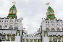 MOSKVA - JUNI 04: Kulturell-underhållning komplex Kreml i Izma Royaltyfri Foto