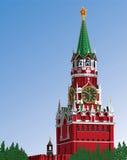 Moskva Kremlin.Russia.Iillustration Stock Illustrationer
