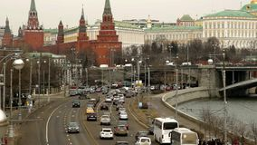 Moskva Kremlpanorama lager videofilmer