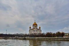 Moskva - 04,04,2017: Kristus Förlossaredomkyrkan i centen Royaltyfria Bilder