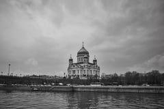 Moskva - 04,04,2017: Kristus Förlossaredomkyrkan i centen Arkivbild