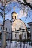 Moskva kyrka av St Panteleimon botemedelen arkivfoto