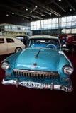 MOSKVA - MARS 09, 2018: GAZ-M21 Volga 1960 på utställningen Oldtim Royaltyfria Foton