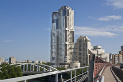 Moskva modern skyskrapa Arkivbild