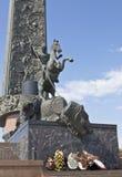 Moskva monument till St George Fotografering för Bildbyråer