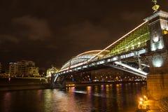 Moskva nattplats, nattstad Arkivbild