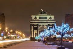Moskva nytt år, jul Arkivfoton