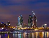 Moskva på natten Royaltyfria Bilder
