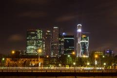 Moskva på natten Arkivfoton
