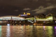 Moskva på natten Arkivfoto