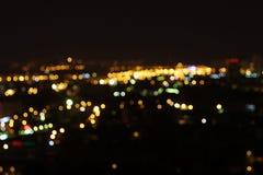 Moskva på natten, 14 golv Royaltyfri Fotografi
