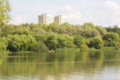 Moskva parkerar Pokrovskoye-Streshnevo-Glebovo Royaltyfria Bilder