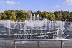 Moskva parkerar springbrunnen Fotografering för Bildbyråer