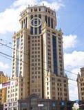 Moskva Paveletskaya torn Royaltyfri Bild