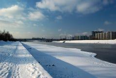 moskva quay rzeka Obrazy Royalty Free