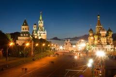 Moskva röd fyrkant arkivbilder