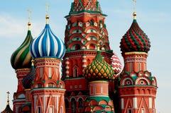 Moskva. Röd fyrkant. Helgon Basil Cathedral. royaltyfri fotografi