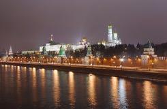 Moskva-rio e terraplenagem foto de stock royalty free