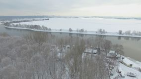 Moskva river aerial view stock footage