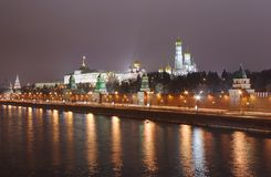 Moskva-river and embankment. Moscow. Russia. Moscow Kremlin, Moskva-river and embankment royalty free stock photo
