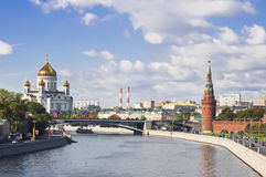 The Moskva river embankment Stock Photography