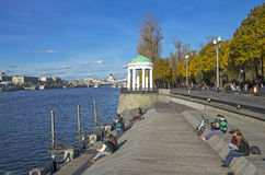 Moskva River embankment. Royalty Free Stock Photos