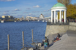 Moskva River embankment. Stock Image