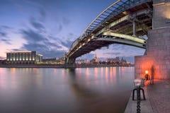 Moskva River Embankment and Bogdan Khmelnitsky Bridge, Moscow, R Stock Images