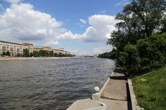 Moskva river embankment, Moscow, Russia Royalty Free Stock Photo
