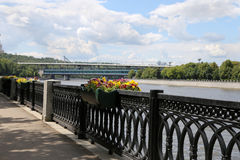 Moskva river embankment, Moscow, Russia Royalty Free Stock Images
