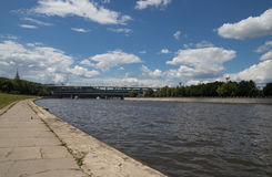 Moskva river embankment, Moscow, Russia Stock Photos