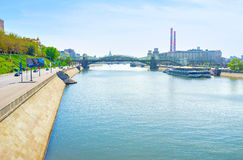 The Moskva river Royalty Free Stock Photography