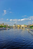 Moskva river in Moscow, Russia - vertical Royalty Free Stock Images