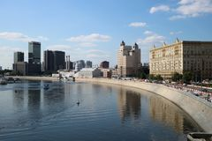 Moskva River. Passing through the centre of Moscow, the capital of the Russian Federation royalty free stock photography