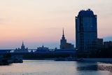 Moskva River in summer morning Royalty Free Stock Image