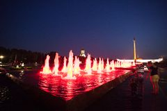 MOSKVA RYSSLAND, 11 AUGUSTI 2014, centralt museum av Royaltyfri Foto