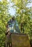 Moskva Ryssland - Augusti 16, 2017: Monument till den stora ryssen och den ukrainska författare Nikolai Gogol i Moskva, Ryssland Royaltyfri Bild