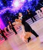 Moskva Ryssland, 3. december 2017, dansa av män och wo Royaltyfria Bilder