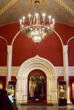 MOSKVA; RYSSLAND - det statliga historiska museet Royaltyfri Foto