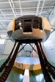 Moskva Ryssland - Februari 18, 2015: Hydraulisk simulator för verkligt flyg för utbildningen av piloterna Arkivbild
