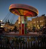 Moskva Ryssland - Februari 12, 2018: Karusell på den röda fyrkanten i mitten av Moskva, Ryssland Royaltyfri Fotografi