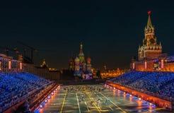 Moskva Ryssland - 08 24 2018 - 09 02 2018: FestivalSpasskaya släp arkivfoton