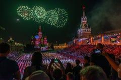Moskva Ryssland - 08 24 2018 - 09 02 2018: FestivalSpasskaya släp royaltyfri fotografi