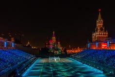Moskva Ryssland - 08 24 2018 - 09 02 2018: FestivalSpasskaya släp fotografering för bildbyråer