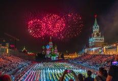 Moskva Ryssland - 08 24 2018 - 09 02 2018: FestivalSpasskaya släp royaltyfri foto